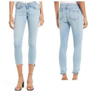 """Rag & Bone Capri """"Step"""" Frayed Hem Jeans"""